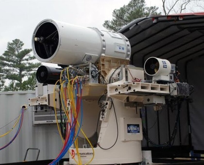 The Navy is testing Raytheon's Navy Weapons System (LaWs).