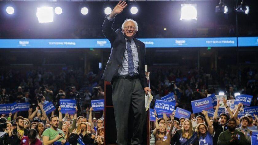 Sen. Bernie Sanders, who has identified as a democratic socialist, declared his 2020 presidential candidacy on Feb. 19, 2019.