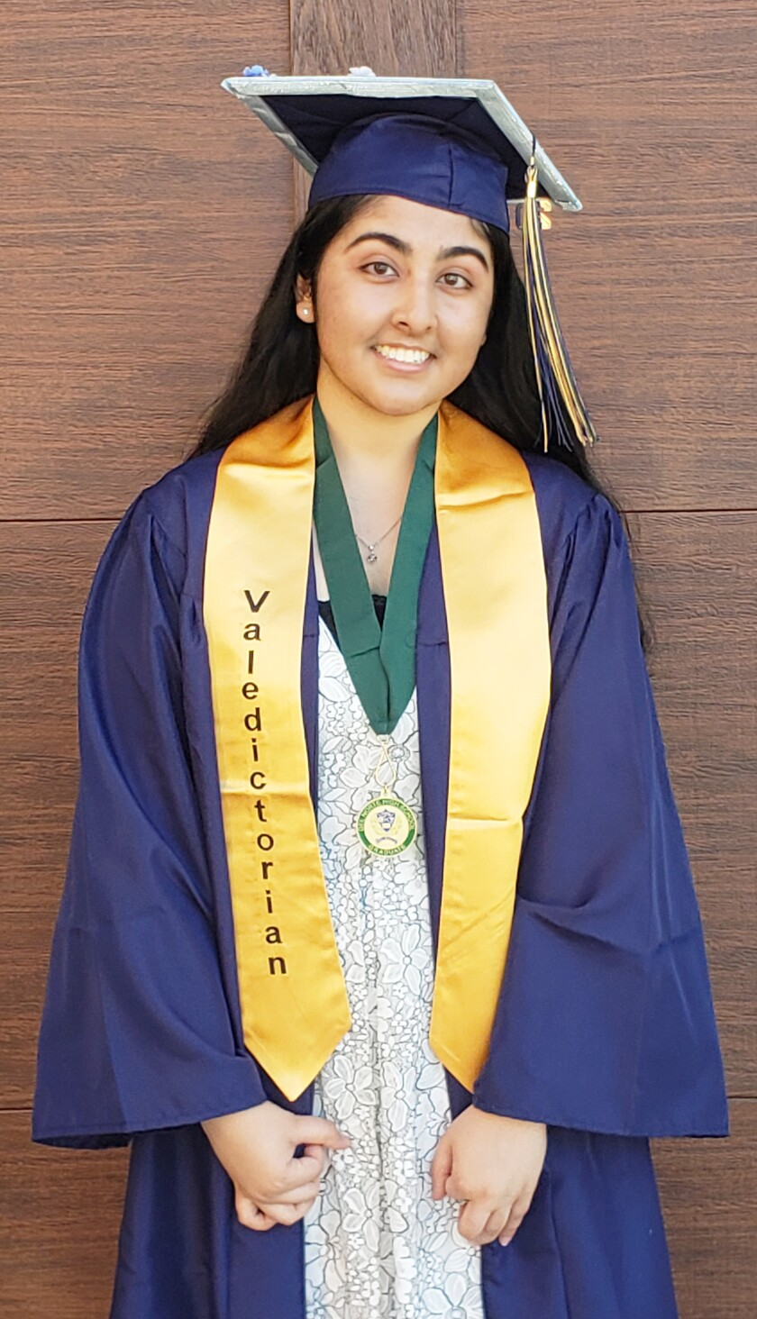 Arushi Dogra, Del Norte High 2020 valedictorian