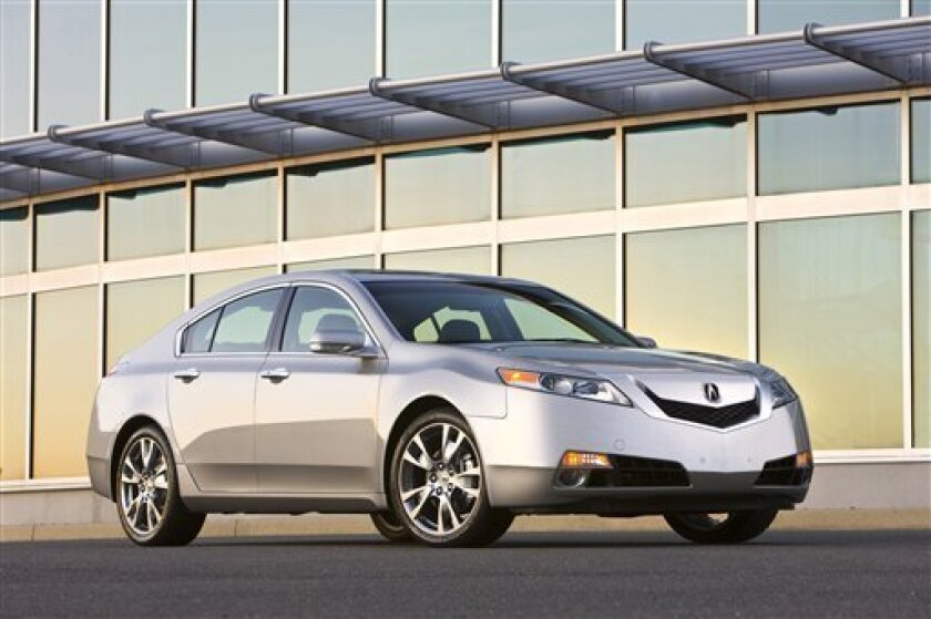 This image released by Acura shows the 2010 Acura TL. (AP Photo/Honda-Acura)