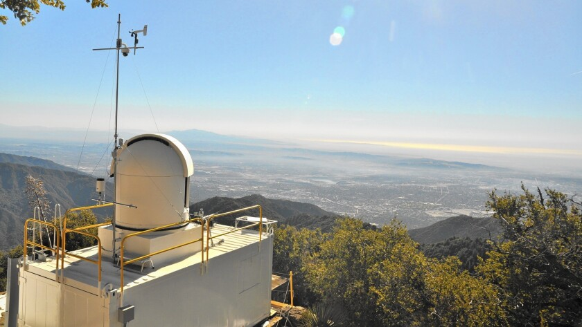 A sensor at JPL's California Laboratory for Atmospheric Remote Sensing atop Mt. Wilson in the San Gabriel Mountains found higher than estimated levels of methane in the Los Angeles Basin.