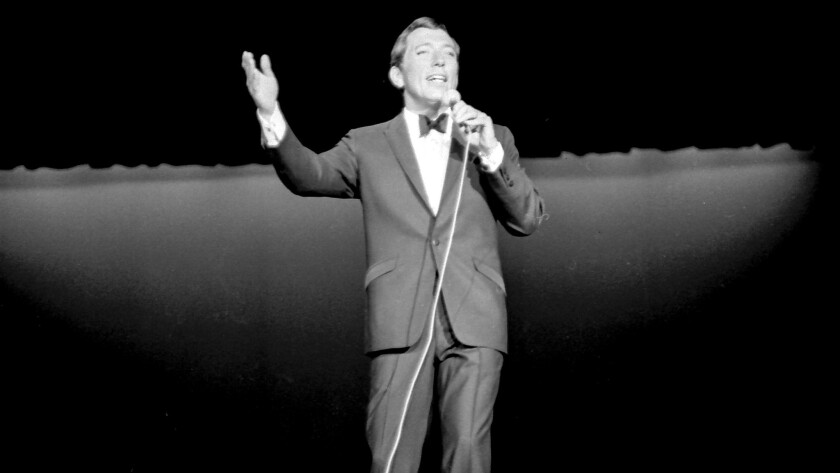 A popular singer in the mid-1960s, Andy Williams was the headliner for opening night at Caesars. Roughly 1,400 guests were invited to the gala.