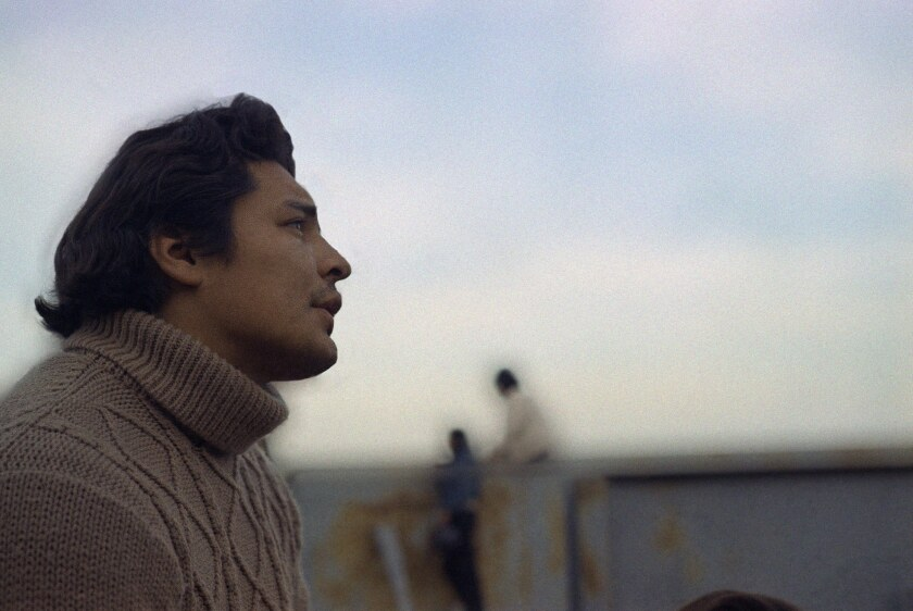 Richard Oakes, one of the Indian leaders in Alcatraz, Nov. 17, 1970.