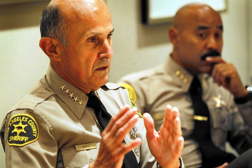 Former Los Angeles County Sheriff Lee Baca in 2011; a grand jury is now hearing testimony about the actions of Baca and Paul Tanaka, his top aide at the time, as they reacted to discovery of a cellphone provided to a county jail inmate by the FBI.