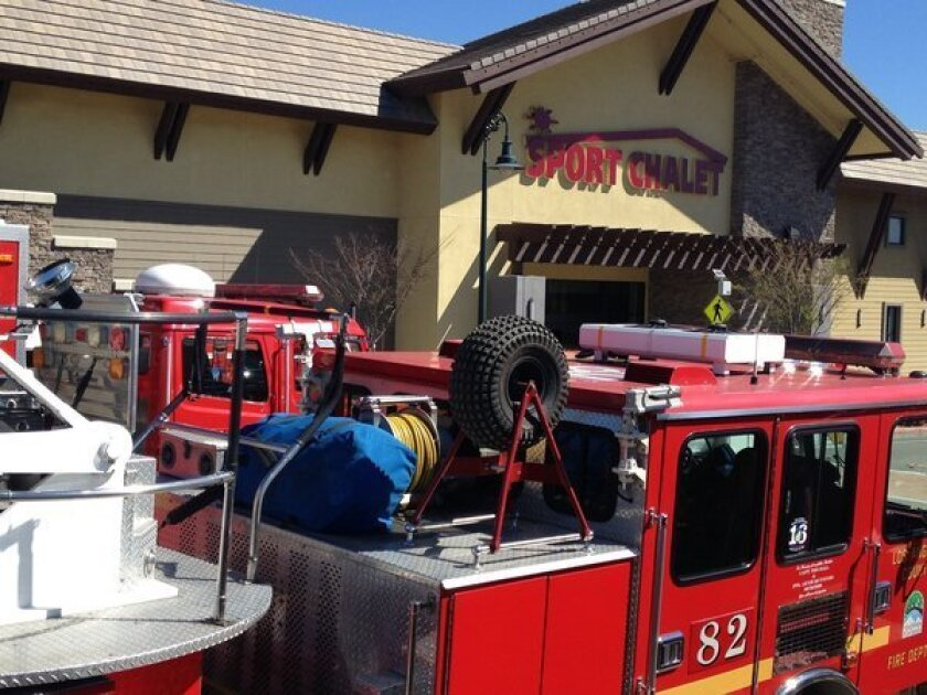 FILE PHOTO: Fire crews respond to the gas explosion at the La Canada store on March 1.