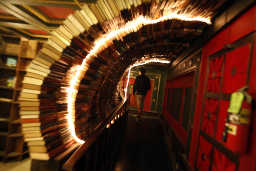 The Last Bookstore in downtown Los Angeles houses more than 100,000 books.