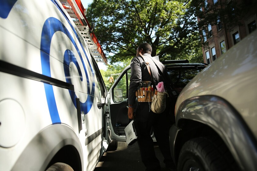 Charter Communications may be near a $55-billion deal to buy Time Warner Cable.