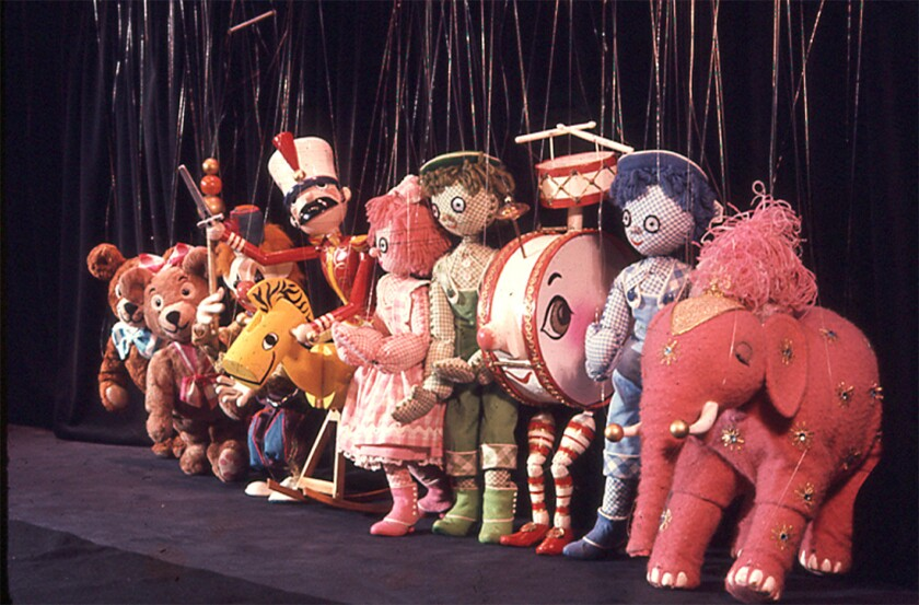"""The marionette cast of """"Bob Baker's Nutcracker."""""""