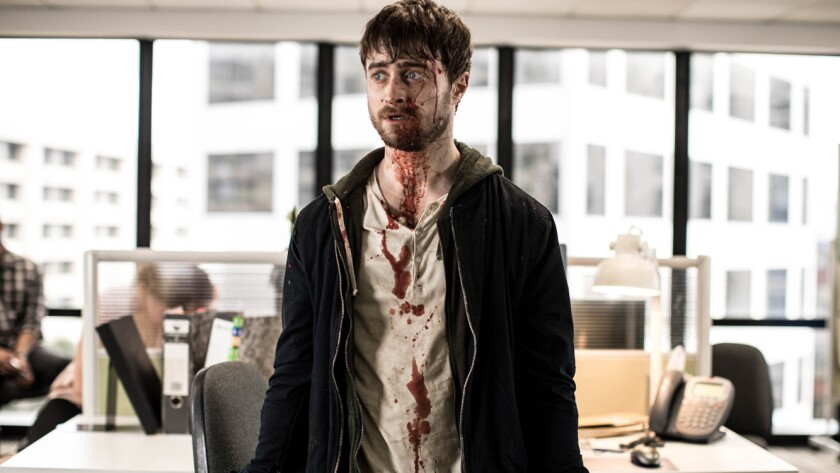 Daniel Radcliffe in the movie 'Guns Akimbo'
