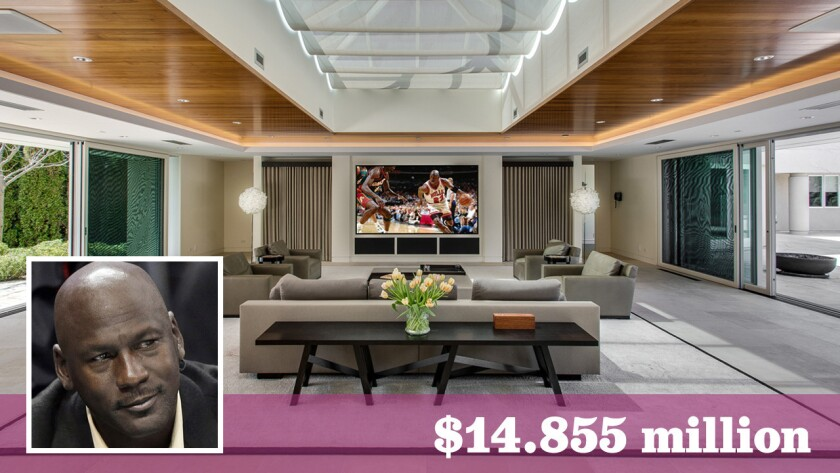 The legendary basketball player has put his 56,000-square-foot compound in Highland Park, Ill., on the market for $14.855 million.