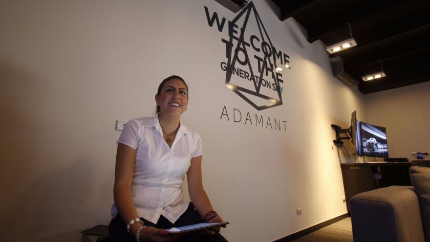 Abril Rodriguez Commercial Director for Adamant explains the building.