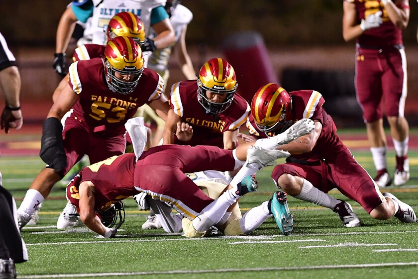 Torrey Pines scored a victory over Olympian 10-7 in a nonleague game on Sept. 6.
