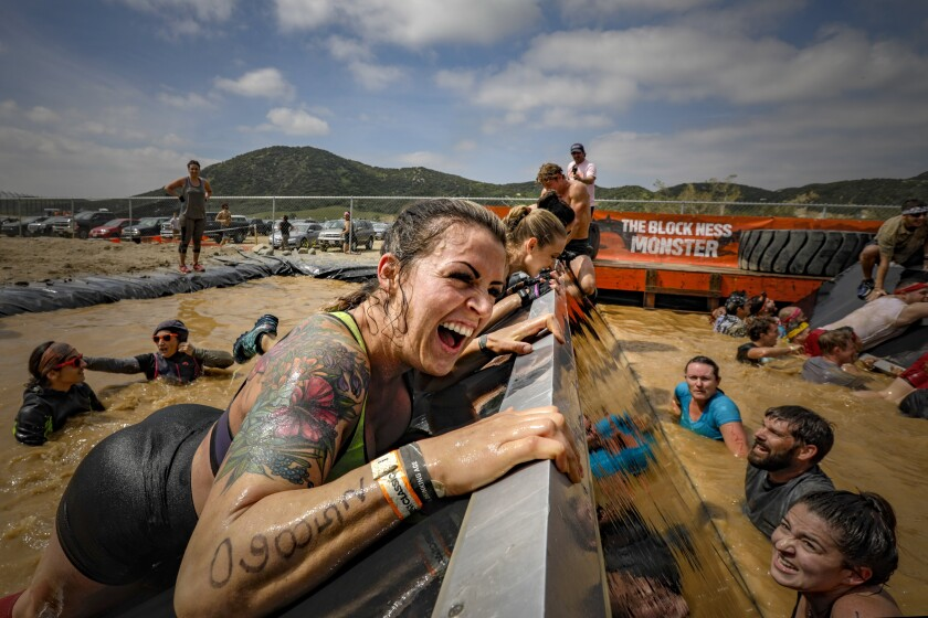 Danielle Petze powers through a challenge at Tough Mudder