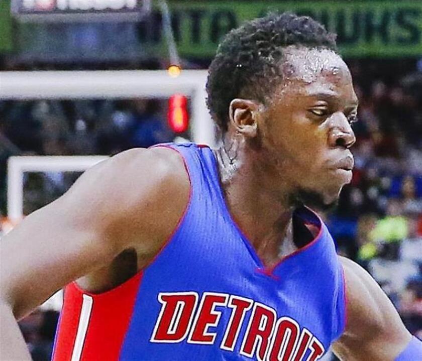 El base de los Detroit Pistons Reggie Jackson. EFE/Aarchivo