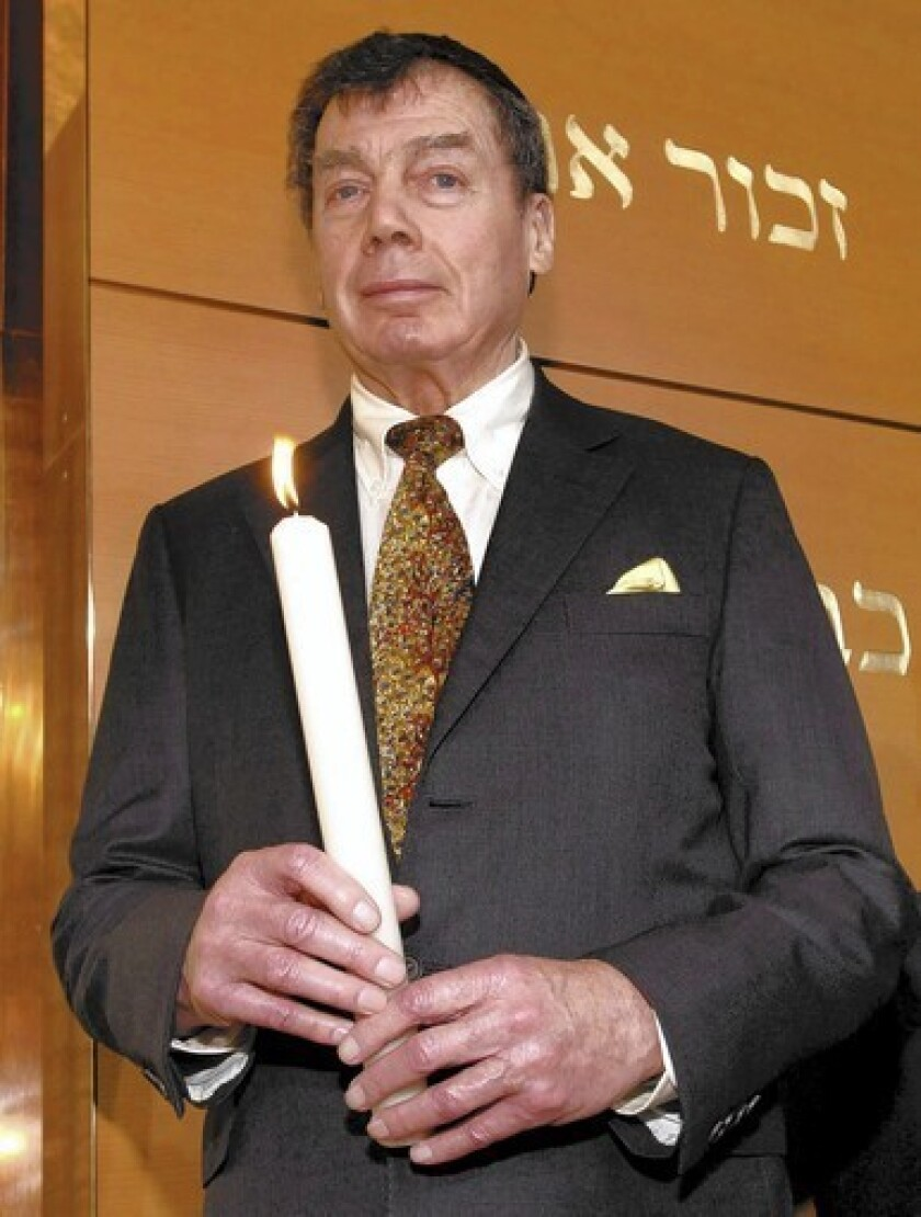 Edgar Bronfman Sr. dies at 84; ex-Seagram's chief led World Jewish Congress