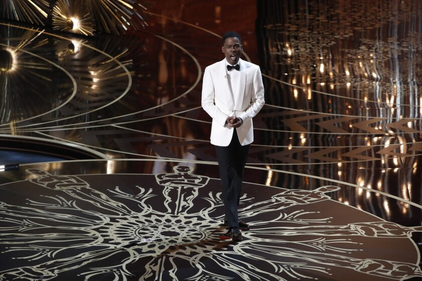 Chris Rock during the telecast of the 88th Academy Awards on Sunday.