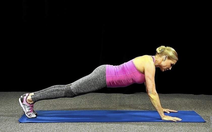 Plank position for beginners