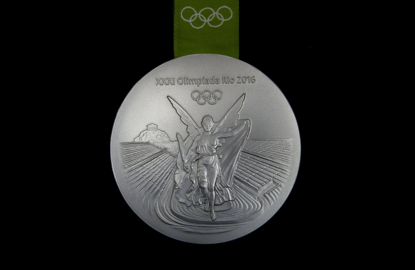 The Rio 2016 silver Olympic medal is pictured at the Casa da Moeda do Brasil (Brazilian Mint) in Rio de Janeiro, Brazil, June 28, 2016. REUTERS/Sergio Moraes ** Usable by SD ONLY **