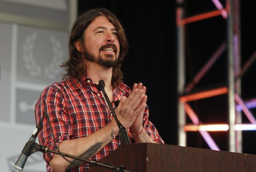 Dave Grohl paid tribute to late Rush drummer Neil Peart.