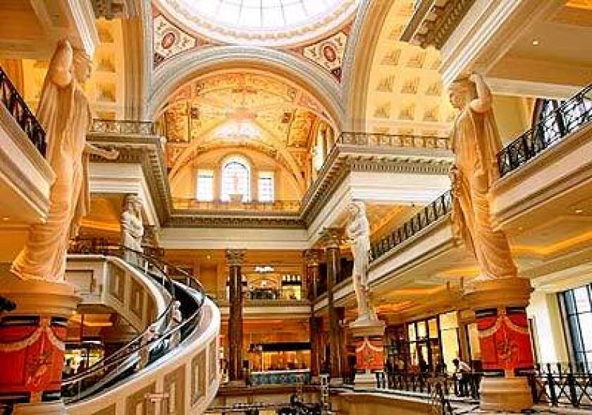 The Forum Shops at Caesars added 60 stores and restaurants this fall, including Baccarat, Bally, Coach, Kate Spade, Sushi Roku and Boa Prime Grill. Caesars has created a public ice rink for the holidays.