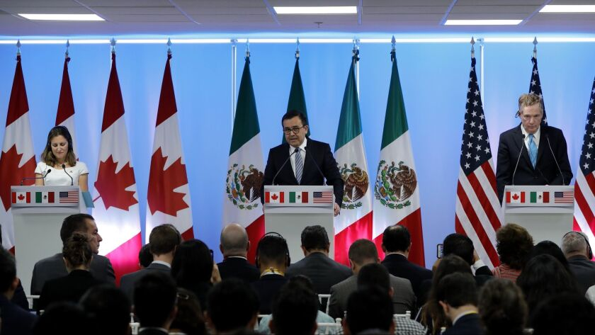Second round of negotiations of the new NAFTA