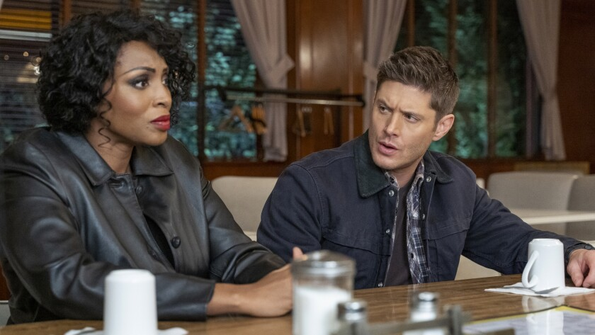 "Lisa Berry and Jensen Ackles in ""Supernatural"" on the CW."