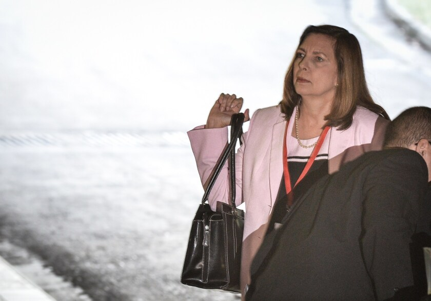 The director of U.S. affairs in Cuba's Foreign Ministry, Josefina Vidal, arrives for the first day of talks in Havana between Cuba and the United States.
