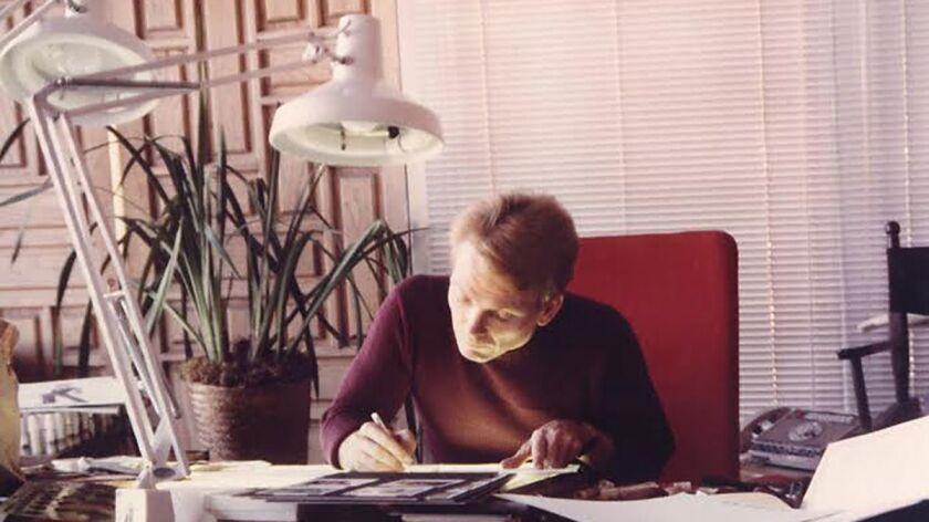 Bob Mackie in LA office (1970s).