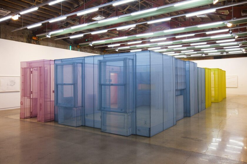 Installation view, Do Ho Suh, The Contemporary Austin - Jones Center, Austin, 2014. Brian Fitzsimmons photo