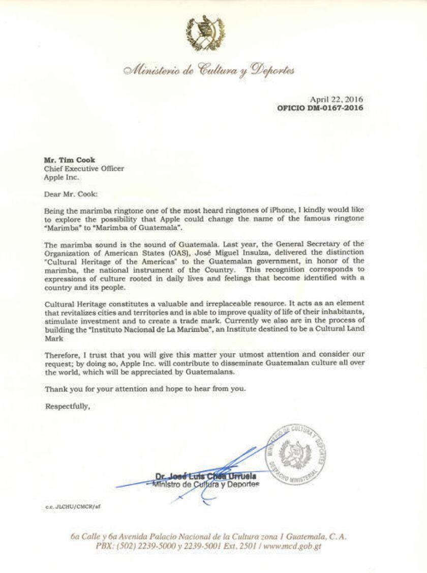 Para lograr este propósito, José Luis Chea Urruela, ministro de Cultura y Deportes, envió la carta con la solicitud del cambio.