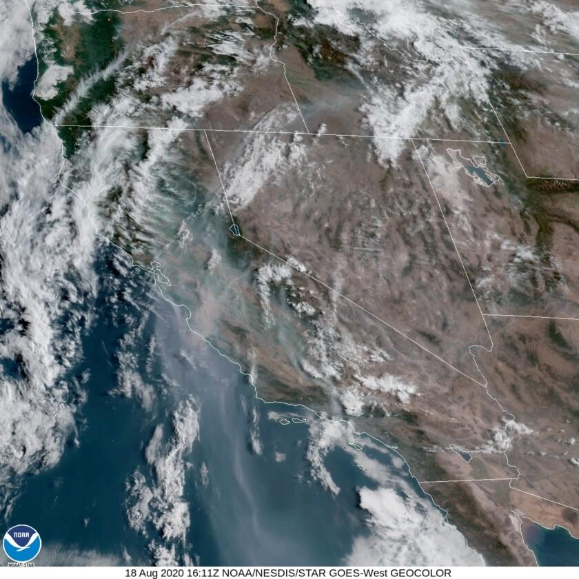High pressure dominates Southern California