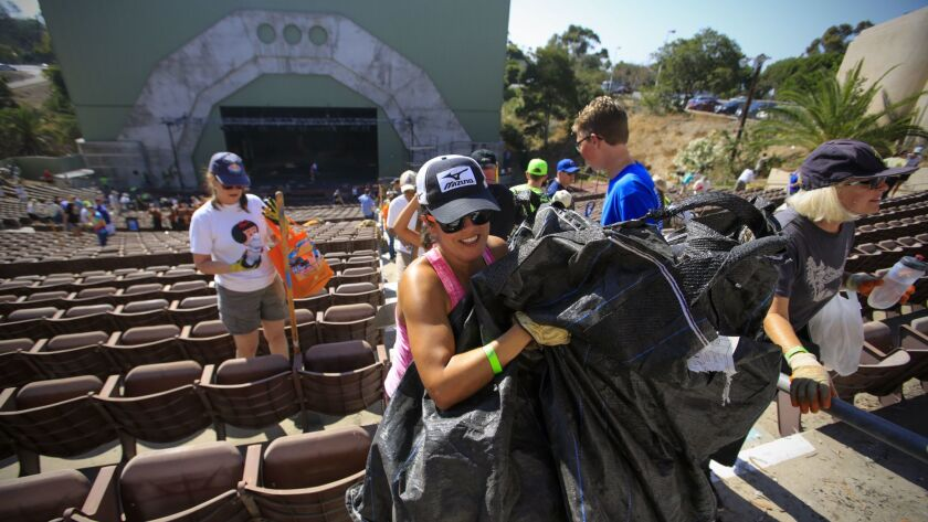 A cleanup of Starlight Bowl precedes plans for reopening the amphitheater.