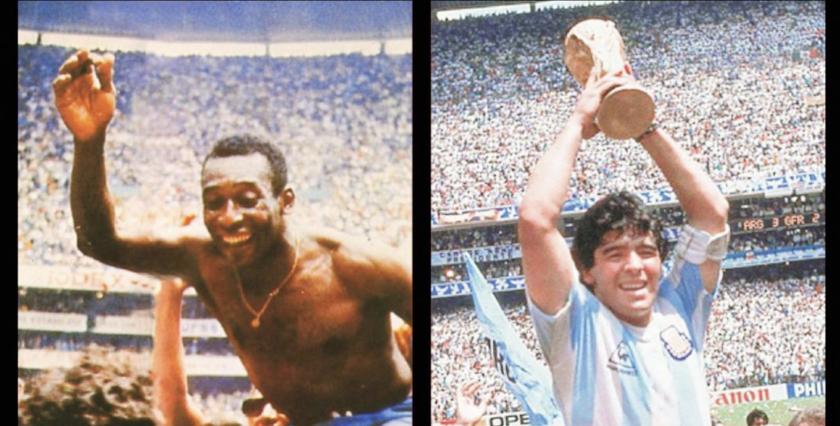 Pelé y Maradona se consagraron reyes del futbol en el Estadio Azteca.