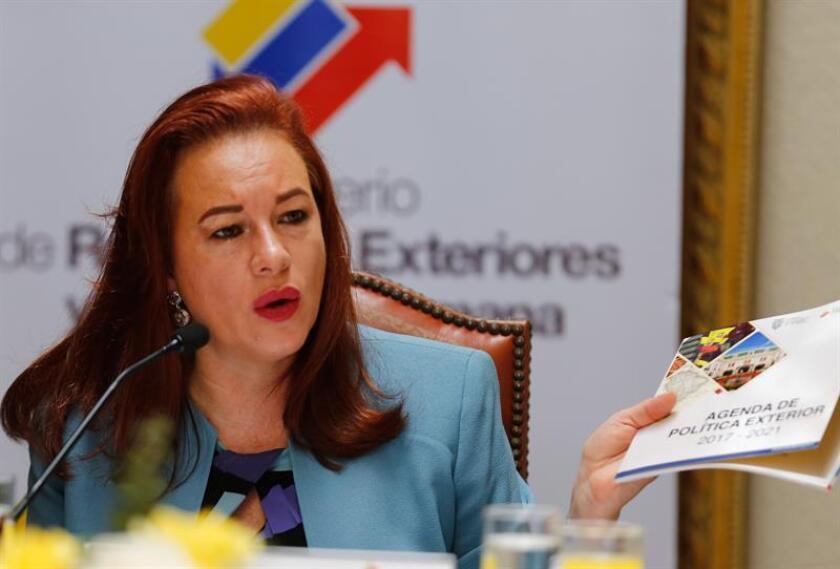 La titular de Relaciones Exteriores y Movilidad Humana de Ecuador, María Fernanda Espinosa. EFE/Archivo