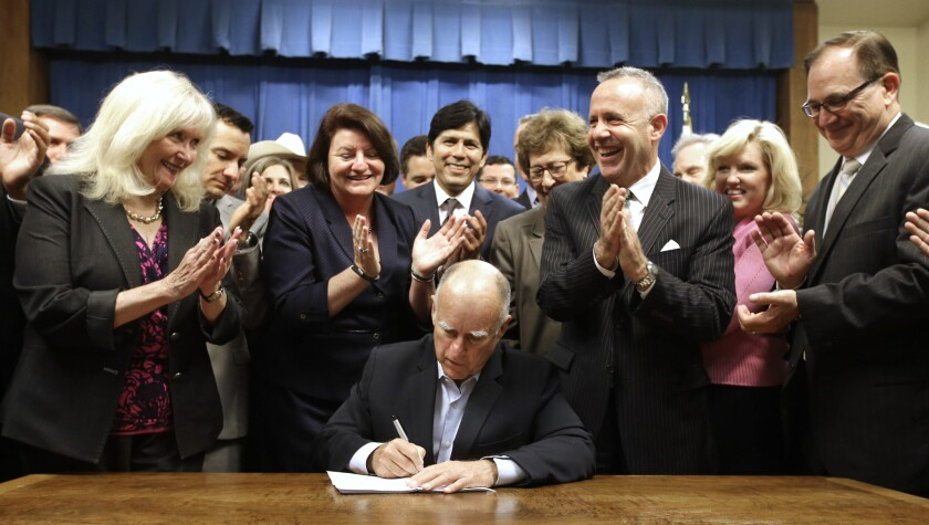 Jerry Brown signs new water plan