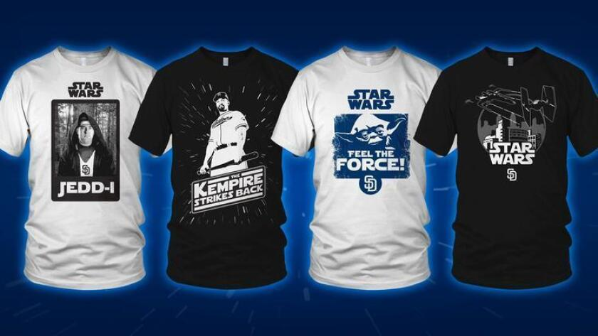 Star Wars Night shirts for Petco Park giveaway.