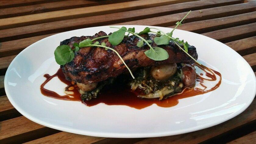 Meyer's Ranch New York steak at Duke's La Jolla restaurant. Pam Kragen/ U-T