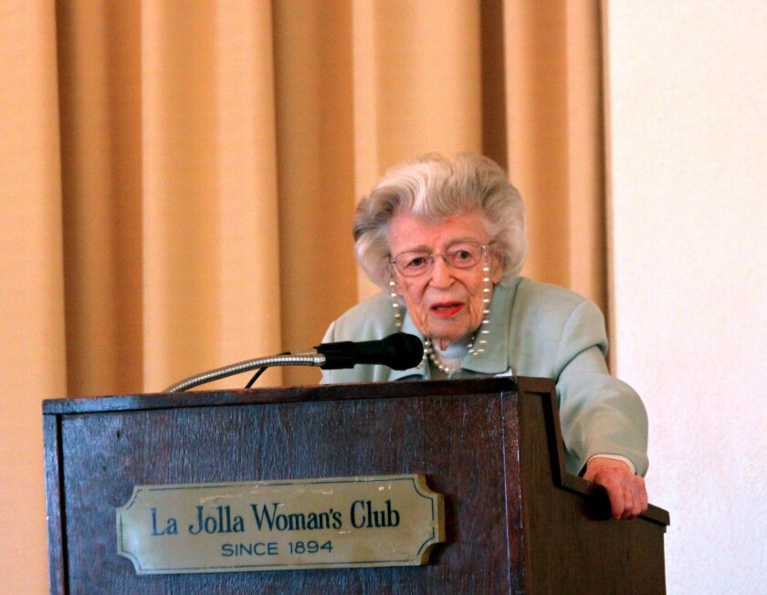 Dr. Doris Howell of La Jolla is considered 'the mother of hospice' in San Diego. She is also the founder of the Doris Howell Foundation for Women's Health Research. With the motto, 'Keeping the women we love healthy,' the Foundation hosts lunches, lectures and workshops throughout the year to promo