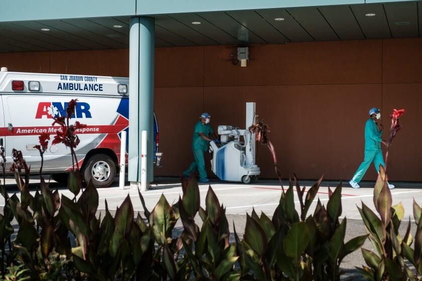 Adventist Health Lodi Memorial Hospital in Lodi, California on July 24, 2020.