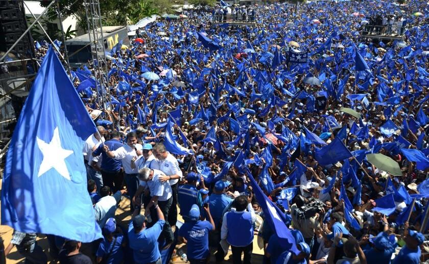 HONDURAS-ELECTIONS-CAMPAIGN-HERNANDEZ