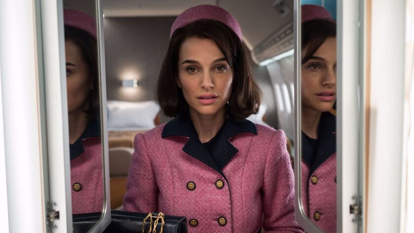 """Natalie Portman as former first lady Jackie Kennedy in the new film """"Jackie."""""""