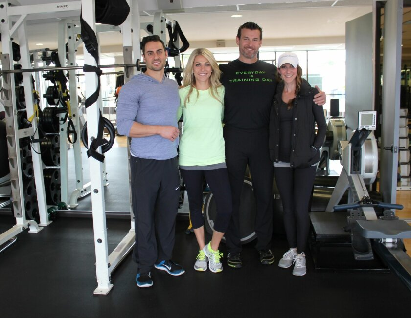La Jolla's Finest Training has moved from Bishops Lane to a ground-floor space at 565 Pearl St. Pictured are trainers Zach Wheeler, Kandal Brennen, owner Jeremy Mannning and Jessica Speciale.