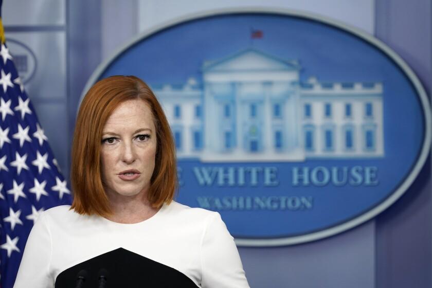 White House press secretary Jen Psaki.