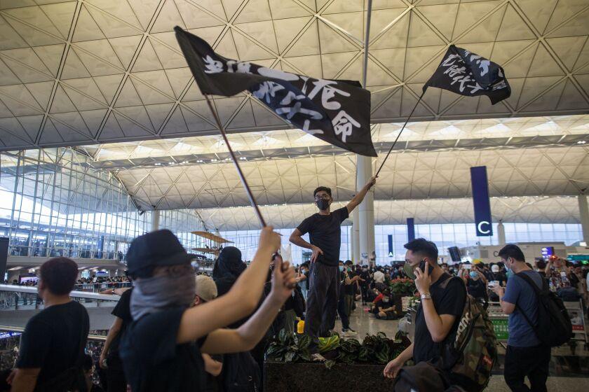 Hong Kong International Airport shuts down amid anti-government protests.