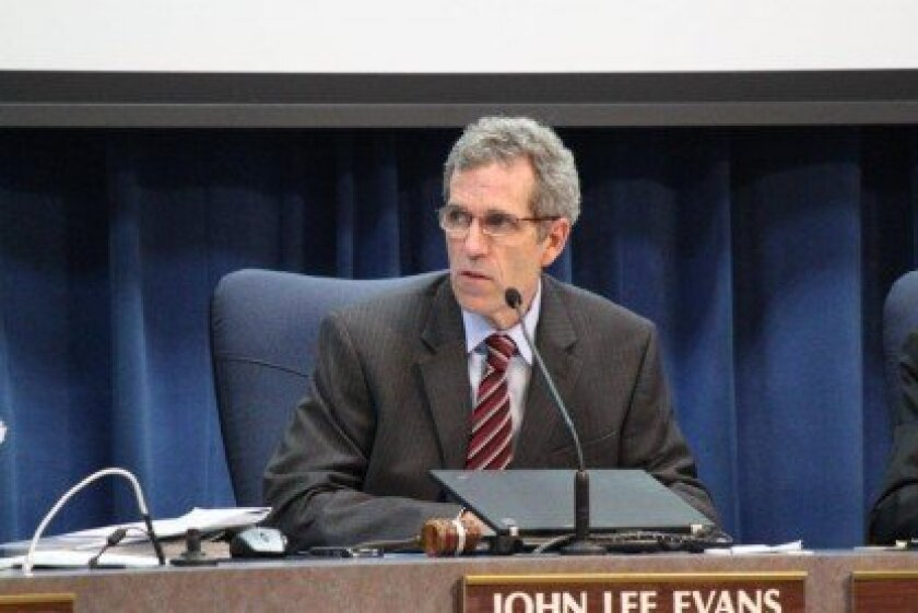 San Diego Unifired School Board President John Lee Evans said the school district does not have the money to rescind more than 1,500 pink slips it issued in March.