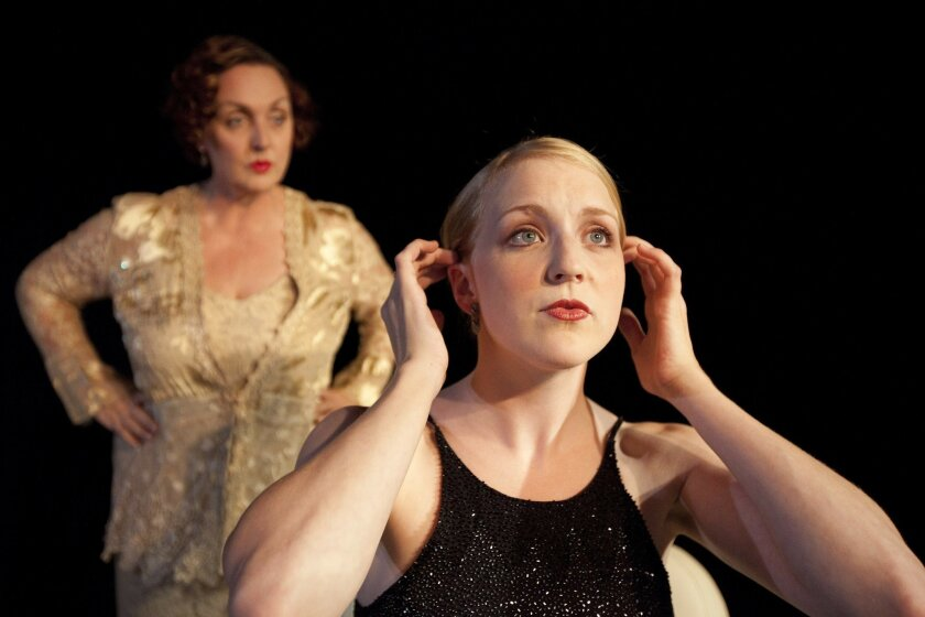 """Linda Libby and Katie Whalley in Ion Theatre's """"Gypsy."""""""