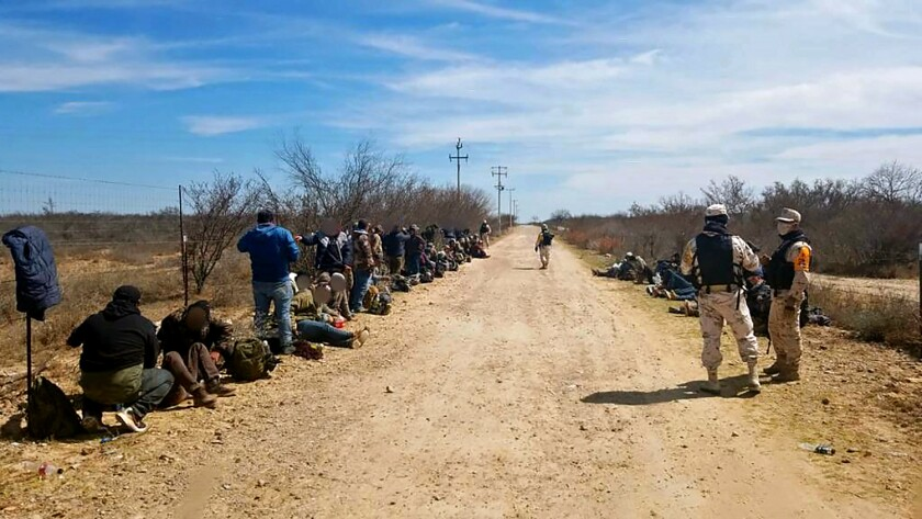 66 migrants, all Mexicans, were abandoned by smugglers on the road near the U.S-Mexico border.