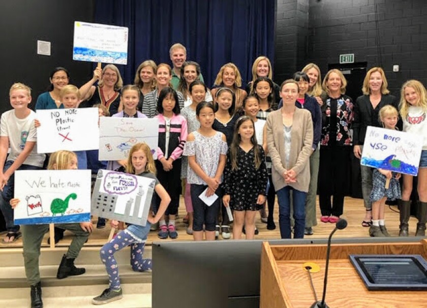 The Skyline School Eco Otters asked the district to support their environmental actions in 2019.