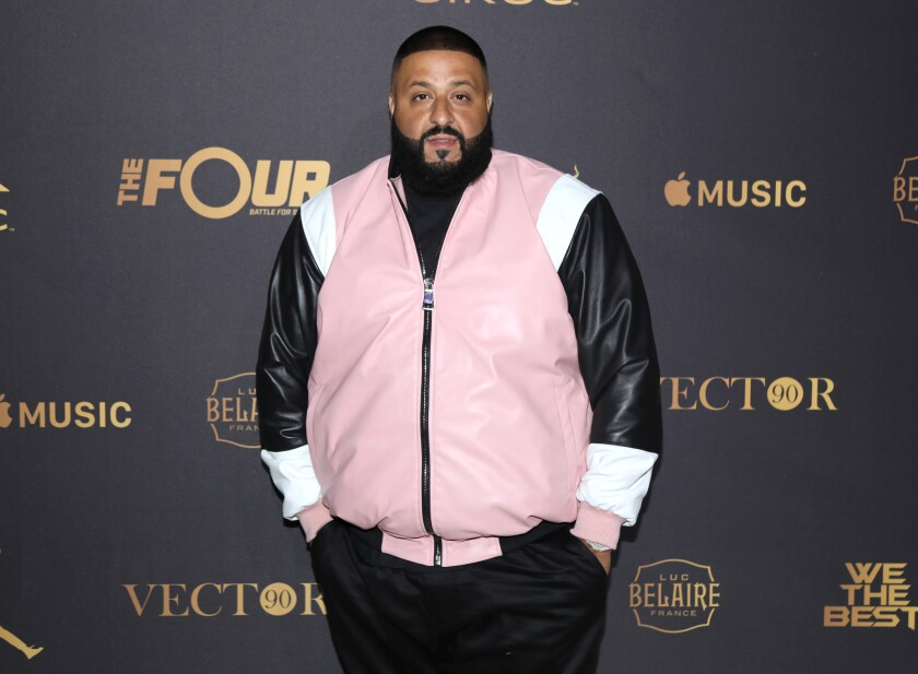 DJ Khaled attends The Four cast Sean Diddy Combs, Fergie, and Meghan Trainor Host DJ Khaled's Birthday Presented by COEROC and Fox on December 2, 2017 in Beverly Hills, California. He will represent Weight Watchers to millions of follows on Snapchat, Twitter, Instagram and Facebook.