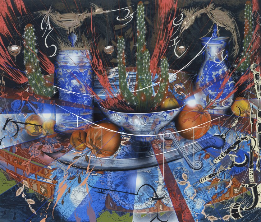 "Lari Pittman, ""Untitled #8 (The Dining Room),"" 2005."